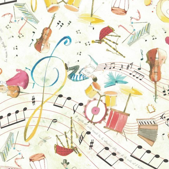 Musical Watercolor Italian Paper