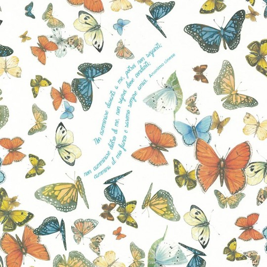 Mixed Butterfly Print Italian Paper