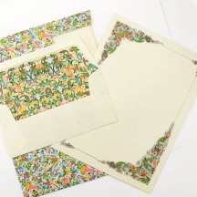 Italian Stationery Letter Writing Set in Portfolio ~ 10 sheets + 10 envelopes ~ Florentine Cornucopia