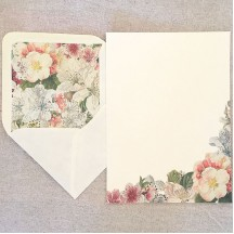 Italian Stationery Letter Writing Set in Portfolio ~ 10 sheets + 10 envelopes ~ Springtime Flowers