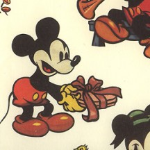 Mickey Mouse and Friends Italian Print Paper ~ Carta Fiorentina Italy