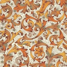 Traditional Florentine Print Paper in Brown Tones ~ Carta Fiorentina Italy