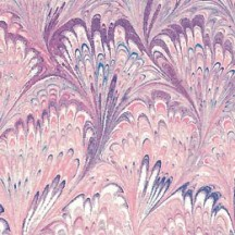 PInk Marbeled Feathers Italian Print Paper ~ Carta Fiorentina Italy