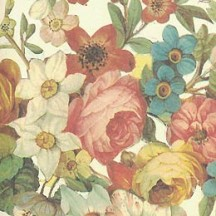 Vintage Flowers and Vines Floral Italian Print Paper ~ Carta Fiorentina Italy