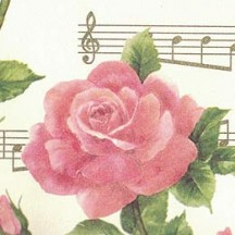Roses and Music Floral Italian Print Paper ~ Carta Fiorentina Italy