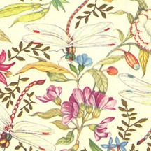 Dragonflies and Flowers Florentine Italian Print Paper ~ Carta Fiorentina Italy