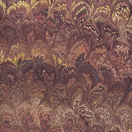 Brown Marbeled Feathers Italian Print Paper ~ Carta Fiorentina Italy