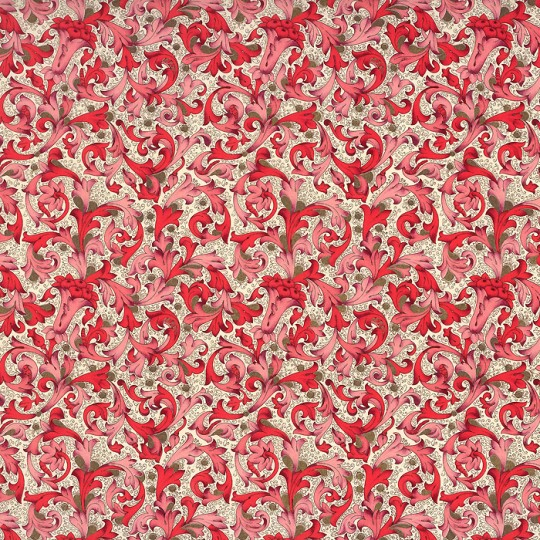 Traditional Florentine Print Paper in Red Tones ~ Carta Fiorentina Italy