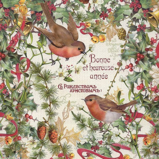 Bird and Holly Specialty Christmas Paper ~ Germany