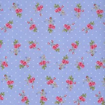 PInk Roses with Polka Dots Blue Specialty Paper ~ Germany