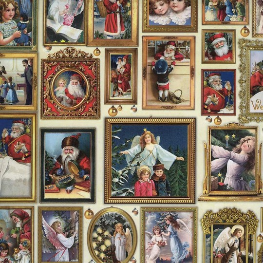Victorian Santas & Angels in Frames Specialty Paper ~ Germany