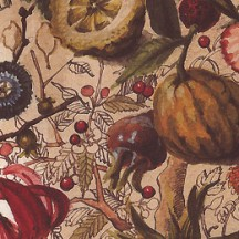 Botanical Flowers and Fruit Print Paper ~ Bomo Art Budapset Hungary