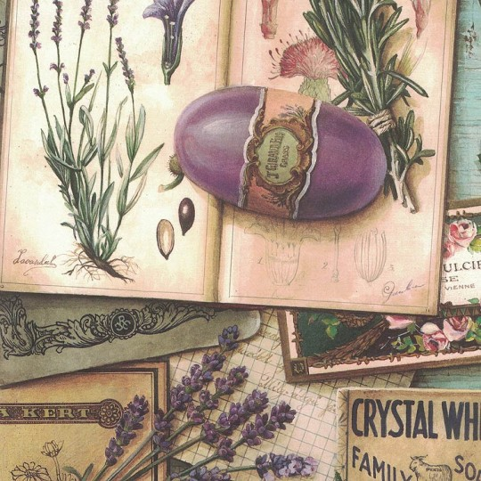 Provence and Herbs Collage Print Paper ~ Bomo Art Budapest Hungary