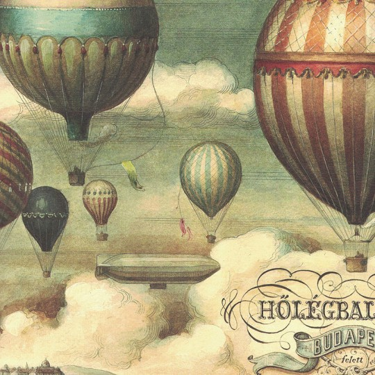 Hot Air Balloon Print Paper ~ Bomo Art Budapest Hungary