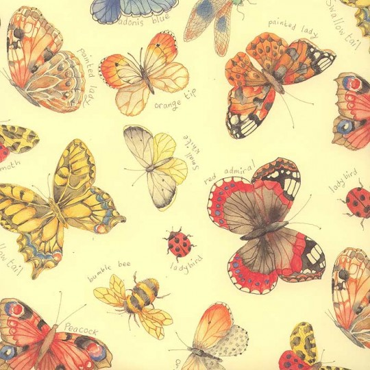 Mixed Butterfly and Insect Print Paper ~ Kartos Italy