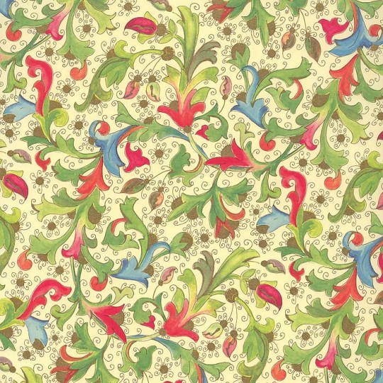 Whimsical Colorful Florentine Print Paper ~ Kartos Italy