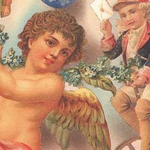 Vintage Angel Collage Italian Paper ~ Kartos Italy