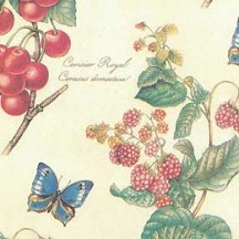 Fruit & Butterfly Print Paper ~ Kartos Italy