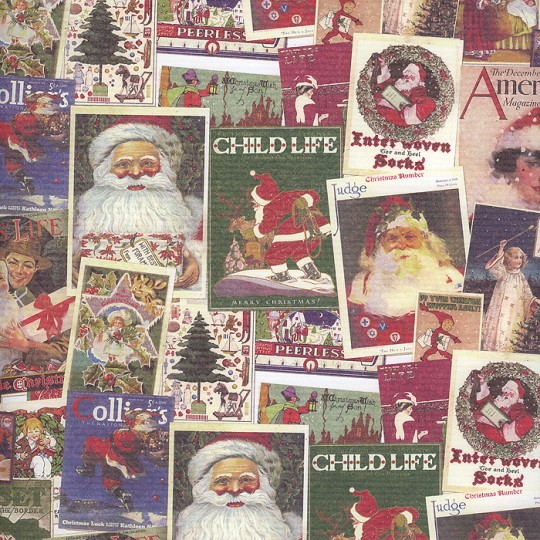 Christmas Magazine Collage Paper ~ Kartos Italy