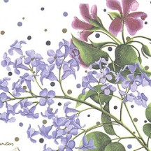Floral Mix and Polka Dots Italian Paper ~ Kartos Italy