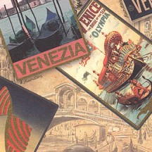 Venice Travel Poster Collage Italian Paper ~ Kartos Italy