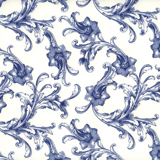 Blue and White Classic Italian Floral ~ Kartos Italy