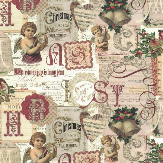 Christmas Angel Collage Paper ~ Kartos Italy