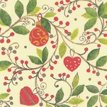 Ornament and Vine Christmas Print Paper ~ Kartos Italy