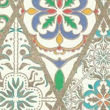 Colorful Tiled Florentine Print Paper ~ Kartos Italy