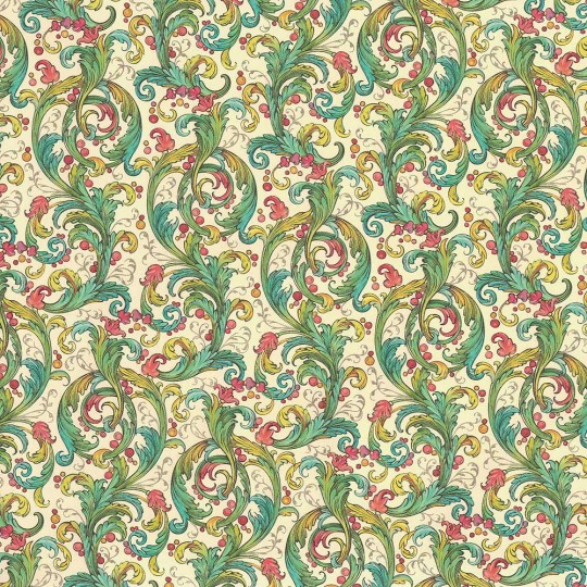 Delicate Floral and Vine Florentine Print Paper ~ Kartos Italy