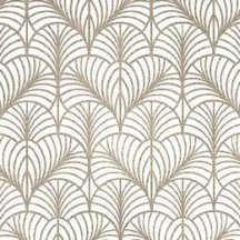 Golden Scalloped Leaf Print Paper ~ Kartos Italy