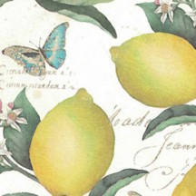Lemons and Butterflies Print Paper ~ Kartos Italy