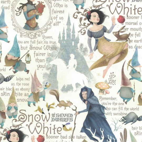 Snow White Collage Italian Paper ~ Kartos Italy
