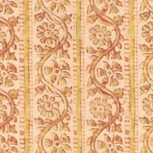 Striped Golden Floral Print Italian Paper ~ Kartos Italy