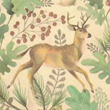 Woodland Animals Christmas Print Paper ~ Kartos Italy