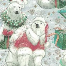 Polar Bears with Presents Christmas Print Paper ~ Kartos Italy