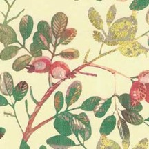 Colorful Berries and Leaves Christmas Paper ~ Kartos Italy