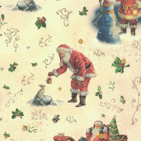 Old Fashioned Santa Christmas Paper ~ Kartos Italy