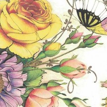 Bright Floral and Butterfly Print Paper ~ Kartos Italy
