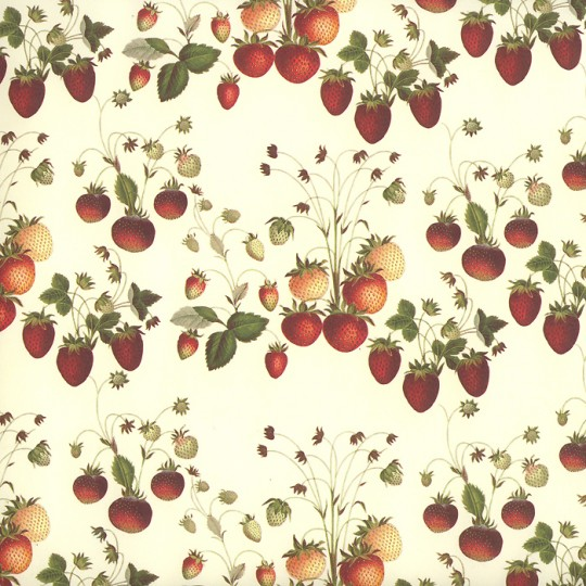 Petite Strawberries Print Italian Paper ~ Leonardo Communication