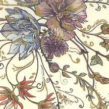Floral Print Italian Paper with Golden Highlights ~ Leonardo Communication