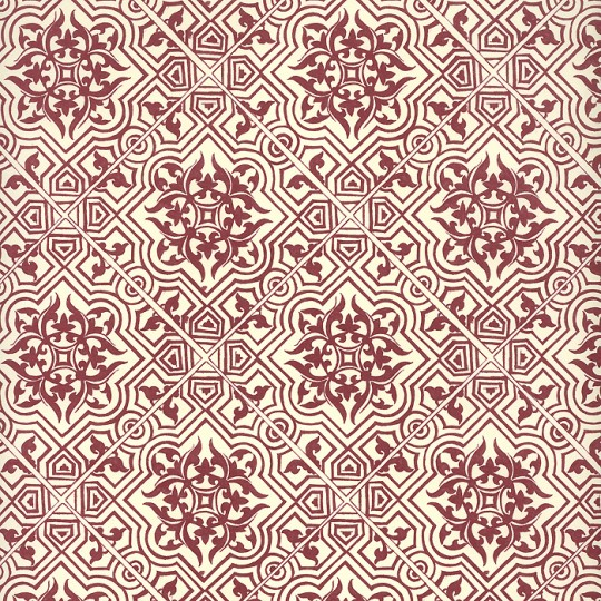 Red Tile Print Italian Paper ~ Leonardo Communication