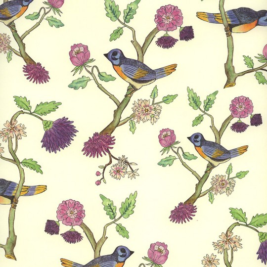 Birds on Flower Branches Italian Paper ~ Leonardo Communication
