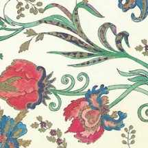 Colorful Jacobean Print Italian Paper with Golden Highlights ~ Leonardo Communication