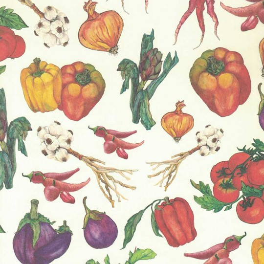 Mixed Vegetable Print Italian Paper ~ Leonardo Communication