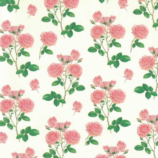 Decorative italian decoupage papers pink rose floral print italian paper leonardo communication mightylinksfo