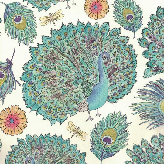 Large Peacocks Print Italian Paper ~ Leonardo Communication