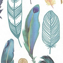 Watercolor Mixed Feathers Paper ~ Italy