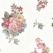 Old Fashioned Roses Floral Print Paper ~ Italy