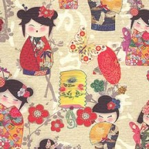 Small Japanese Doll Print Paper ~ Italy